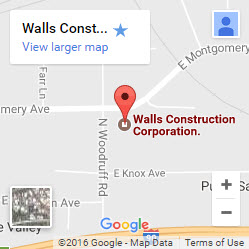 Walls Construction Corporation on Google Maps